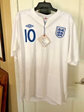 NWT ENGLAND 10 ROONEY AUTHENTIC SOCCER FOOTBALL JERSEY SHIRT SZ44 2012 HOME