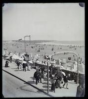 Francia La Spiaggia c1900 Foto Negativo Placca Da Lente Vintage VrL7An8