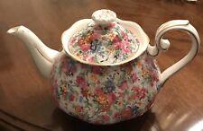 Royal Albert Rose Chintz Teapot-Excellent