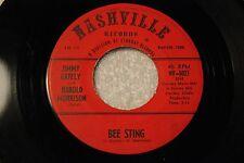 "JIMMY GATELY & HAROLD MORRISON 45rpm VINYL ""Bee Sting"" Nashville Starday Records"
