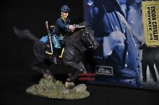 BRITAINS 17401 UNION CAVALRY PRIVATE MOUNTED METAL TOY SOLDIER FIGURE NO.4
