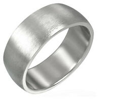 Matte Satin Silver Stainless Steel Ring Size 13 REE005
