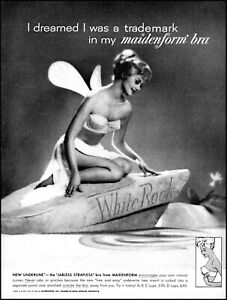 1962 Girl Fairy Maidenform strapless bra white rock retro photo print ad L26