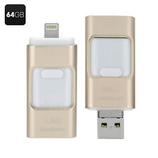 64GB Multi-functional USB Flashdisk - Triple iOS, Android, Windows Interface, Hi