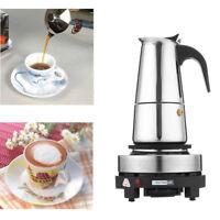 4 Cup 220ML Espresso Moka Coffee Maker Pot Percolator Percolator Electric Stove