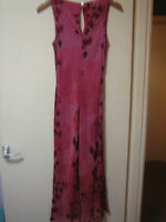 A  WOMANS LOVELY STYLISH MONSOON  PINK DRESS  DRESS SIZE 12