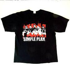 Simple Plan 2005 Large Concert T-Shirt - Black Tour Shirt