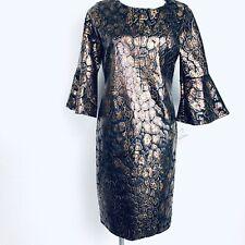 Olivia Matthews Black Brown Women Dress. Size XL. NWT.