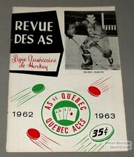 1962-63 AHL Quebec Aces Program Michel Harvey Cover