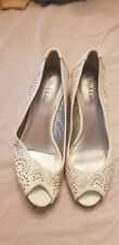 Kelly & Kate Vintage White Shoes Wegde Cork Size 8