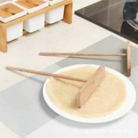 Crepe Pancake Spreader T-Shape Tool Kitchen Wooden Batter Food Utensil t