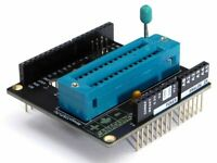 ZIF Socket Programmer Shield Atmega328P-PU compatible with Arduino UNO - DIY Kit