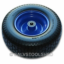 """16"""" Extra Wide Puncher Proof Rubber Wheel Lawn Mower Tyre Solid Flat Free Tire"""
