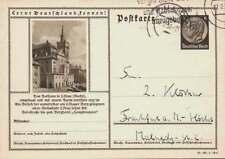 D.Reich Ganzsache P 236 LÖBAU gelaufen FULDA 27.2.38 (43267)