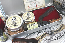 Beard & Moustache Gift Box Set, Moustache Wax,Beard Balm,Beard Oil,Comb & Case