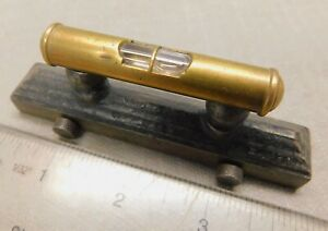 "Davis - Athol Machine or Standard Tool Co. 4"" Pedestal Pocket & Square Level"