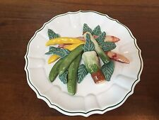 Horchow Trompe-l'oeil Plate with Ceramic Vegetables ~ Made in Italy