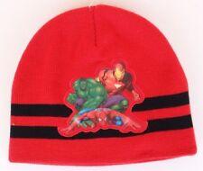 Marvel Avengers Boy's Red Beanie Winter Warm Hat  NWT