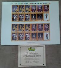 1993 Classic Draft Picks Basketball Draft Day Uncut Sheet - LIMITED EDITION CoA
