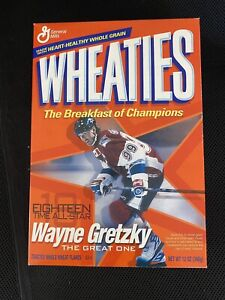 NHL WAYNE GRETZKY NY RANGERS WHEATIES BOX NHL Great Condition