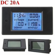 20A DC Digital Multifunction Power Meter Energy Monitor Module Voltmeter Ammeter