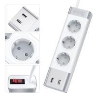 Dreifache Steckerleiste USB Anschlüsse Mehrfachstecker Steckdosenleiste Modern