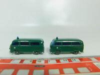 BO535-0,5# 2x Wiking H0/1:87 Transporter/T2 Volkswagen/VW Polizei, sehr gut