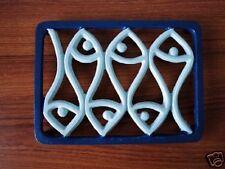 Cast Iron Fish Design Kitchen Trivet Coaster 21cm x 15cm