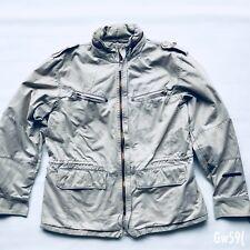 Firetrap Jacket American Army Style Field Jacket With Hood  in Khaki Size L