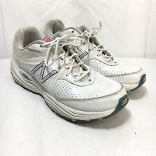 New Balance 840 Abzorb Womens 7.5 2A White Blue Lace Up Athletic Running Shoes