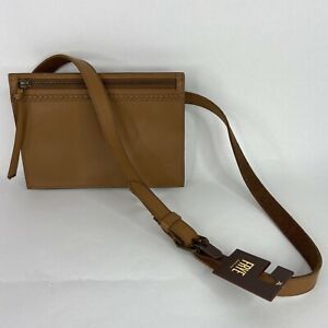 Frye Belt Bag Fanny Pack Cognac Brown Tan Leather MSRP $218