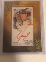 2019 Allen & Ginter Luis Urias Framed Auto Red Ink #5/10 Padres Brewers