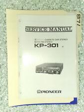Pioneer kp-301 service manual original repair book stereo car radio tape deck