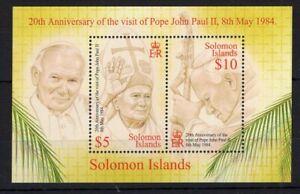 Solomon Isl. Pope John Paul II  - stamps Briefmarken francobolli MNH** Alb.1