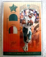 Dan Marino 2001 Leaf Rookies&Stars Dress for Success 3 Color Dual Patch-Dolphins