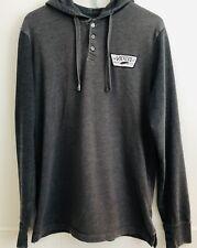 Vans Mens Cotton Hoodie Long Sleeve T Shirt Vintage Gray Sz Medium Off The Wall