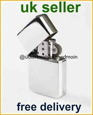 Windproof Silver Petrol Lighter Novelty Petrol Flint Plain Gift