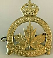 Vintage Royal Canadian Army Cadets Cap Badge with Kings Crown WWII