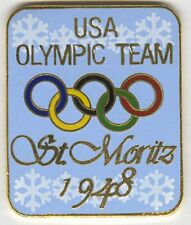 ATLANTA OLYMPIC PIN RENDITION OF USOC TEAM BADGE FROM ST. MORITZ OLYMPICS 1948