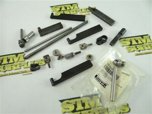 LOT OF ASSORTED INDICATOR MOUNT CLAMPS & ACCESSORIES STARRETT SPI ++
