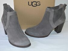New $200 UGG Cobie II Grey Suede Heeled Bootie Boots sz 11 Ankle/Short Nightfall