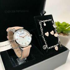 Emporio Armani Women's Watch, Earrings & Bracelet Box Set AR8039;100% Authentic