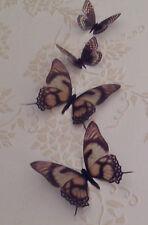 Farfalla Decalcomania 4 Panna Marrone 3D Farfalle specchio mobili accessori