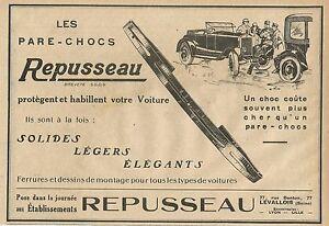 W5584 Les Pare Chocs Repusseau - Advertising 1928