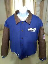 Vintage Starter Pro Line New York Giants Varsity Jacket Large Leather Wool RARE