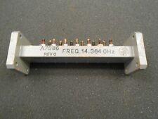 WR75 WAVEGUIDE BAND PASS FILTER 14.0-14.5 GHz A7586,  5 INCH BPF VSAT KU BAND