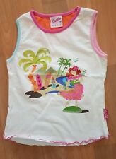 Girls White Vest Top 5-6yrs by BARBIE Avenue Multi Coloured Beach Scene