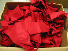 Felt (polyester/acrylic) Scraps, Red Only 5-pound box Close Out Sale