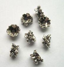 40pcs Tibet silver lotus Flower End Beads Caps 9x5 mm