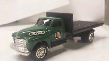 1/64 ERTL custom 1950's Chevy agco white oliver dealer flatbed truck farm toy